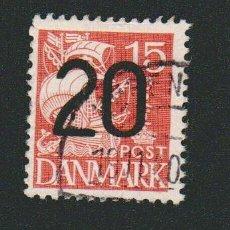 Sellos: DINAMARCA.1933-37.- 15 ORE.YVERT 214.USADO. SOBRCARGADO. Lote 77259245
