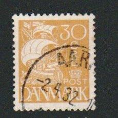 Sellos: DINAMARCA.1927-30.- 30 ORE.YVERT 184.USADO.. Lote 77259461