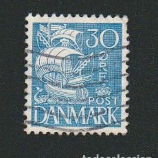 Sellos: DINAMARCA.1933-37.- 30 ORE.YVERT 219.USADO.. Lote 77259505