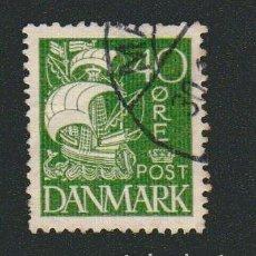 Sellos: DINAMARCA.1927-30.- 40 ORE.YVERT 186.USADO.. Lote 77259721