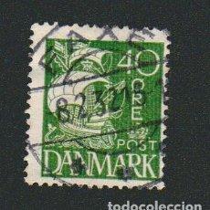 Sellos: DINAMARCA.1927-30.- 40 ORE.YVERT 186.USADO.. Lote 77259821