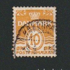 Sellos: DINAMARCA.1933-37.- 10 ORE.YVERT 213.USADO.. Lote 77260061