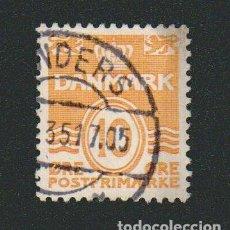 Sellos: DINAMARCA.1933-37.- 10 ORE.YVERT 213.USADO.. Lote 77260085