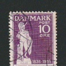 Sellos: DINAMARCA.1938.- 10 ORE.YVERT 259.USADO.. Lote 77261049