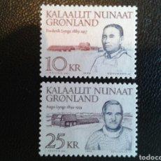 Briefmarken - GROENLANDIA (DINAMARCA). YVERT 197/8. SERIE COMPLETA NUEVA SIN CHARNELA. - 101033182