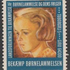 Sellos: DINAMARCA. 1945. VIÑETA. LUCHA CONTRA LA BØRNELAMMELSEN . MNG (18-58). Lote 112301911