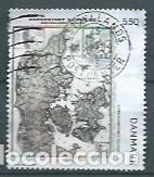 DINAMARCA,2009,VIEJOS MAPAS DE DINAMARCA,USADO,YVERT 1537 (Sellos - Extranjero - Europa - Dinamarca)