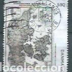 Timbres: DINAMARCA,2009,VIEJOS MAPAS DE DINAMARCA,USADO,YVERT 1537. Lote 116886844
