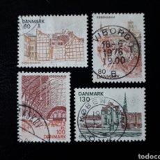 Selos: DINAMARCA. YVERT 619/22. SERIE COMPLETA USADA. COPENHAGUE. Lote 125180043