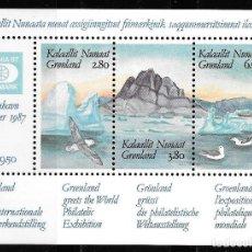 Sellos: GROENLANDIA DINAMARCA 1987. HB YT Nº 1- EXPOSICION FILATELICA INTERNACIONAL HAFNIA 87 NUEVO (MNH). Lote 132729426