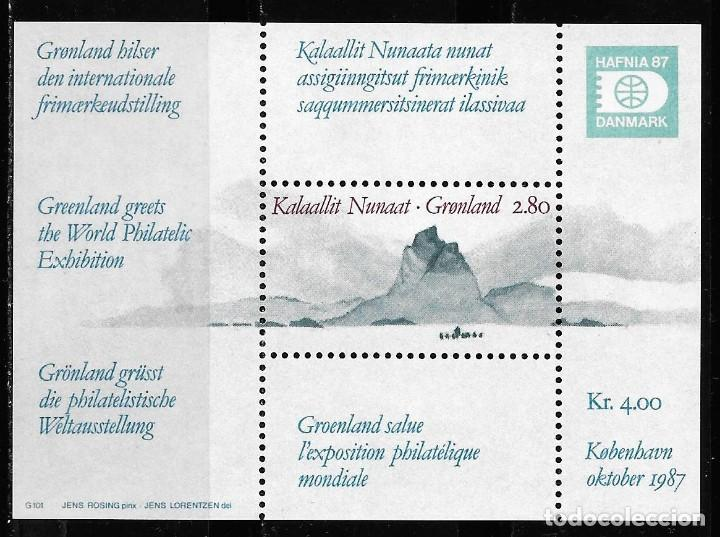 GROENLANDIA DINAMARCA 1987. HB YT Nº 2- EXPOSICION FILATELICA INTERNACIONAL HAFNIA 87 NUEVO (MNH) (Sellos - Extranjero - Europa - Dinamarca)
