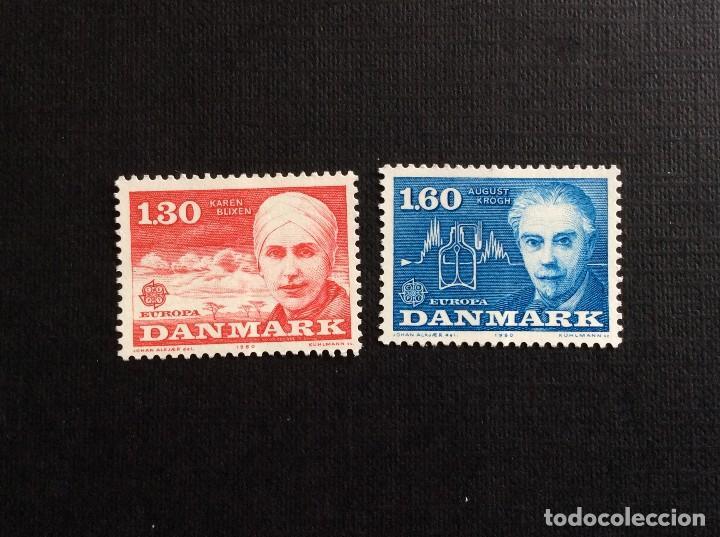 DINAMARCA Nº YVERT 700/1***AÑO 1980.PERSONAJES CELEBRES (Sellos - Extranjero - Europa - Dinamarca)