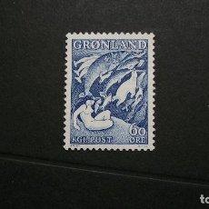 Sellos: GROENLANDIA-1957-Y&T 30**(MNH). Lote 135941546