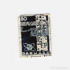 Sellos: SELLO DINAMARCA 80 1865 DEN INTERNATIONAL TELEKOMMUNIKATIONSUNION. Lote 136607462