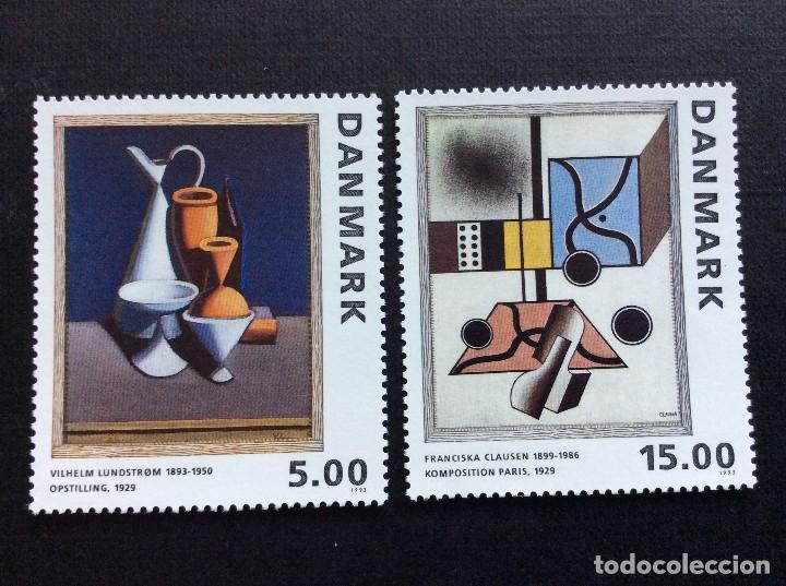 DINAMARCA Nº YVERT 1071/2***AÑO 1993. PINTURAS DE ARTISTAS DANESES (Sellos - Extranjero - Europa - Dinamarca)