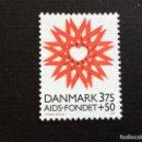 Sellos: DINAMARCA Nº YVERT 1143***AÑO 1996. FUNDACION DE LUCHA CONTRA EL SIDA. Lote 143658758