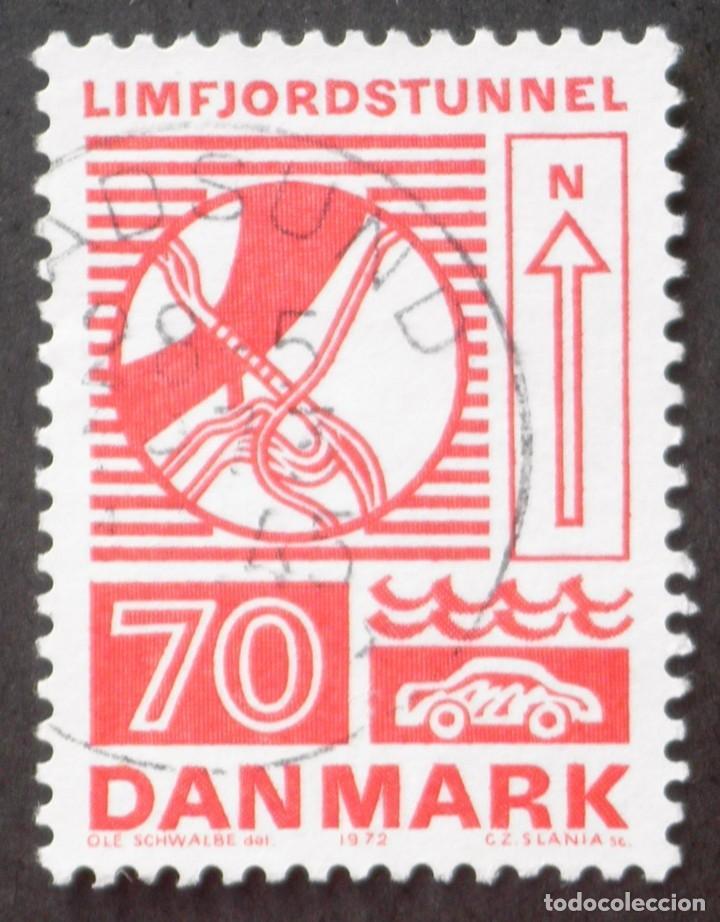 1972 DINAMARCA INGENIO HUMANO TÚNEL DE LIMFJORD (Sellos - Extranjero - Europa - Dinamarca)