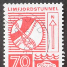 Sellos: 1972 DINAMARCA INGENIO HUMANO TÚNEL DE LIMFJORD. Lote 146426374