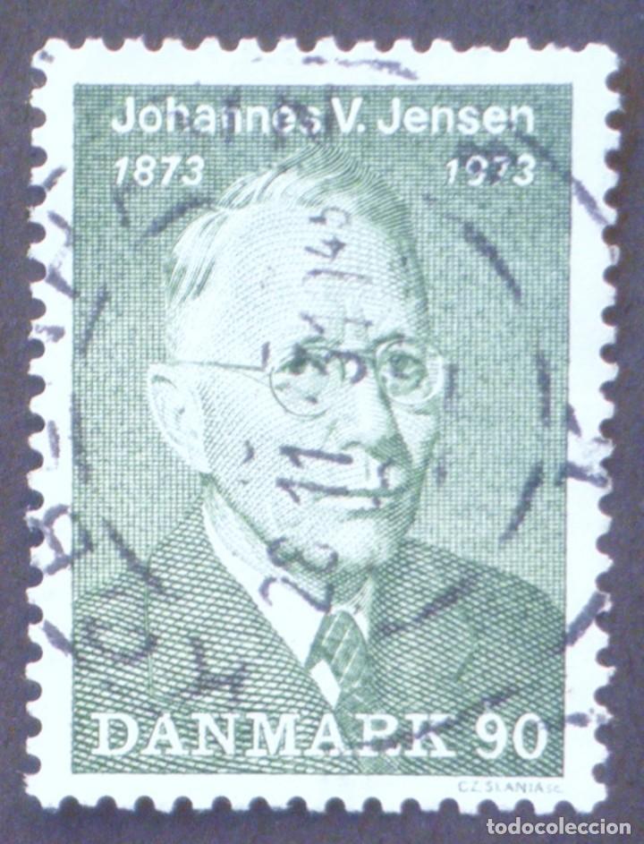 1973 DINAMARCA I CENTENARIO NACIMIENTO JOHANNES V. JENSEN (Sellos - Extranjero - Europa - Dinamarca)