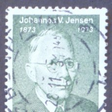 Sellos: 1973 DINAMARCA I CENTENARIO NACIMIENTO JOHANNES V. JENSEN. Lote 146426774