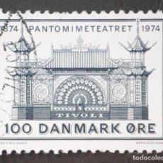 Sellos: 1974 DINAMARCA I CENTENARIO TEATRO PANTOMIMA TIVOLI. Lote 146441834