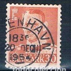 Sellos: DINAMARCA 1952 Y 321A SELLO USADO BUEN MATASELLOS. Lote 146444486