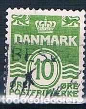 DINAMARCA 1962 Y 336AB SELLO USADO POSIBLE VARIANTE DEL DE 1950 (Sellos - Extranjero - Europa - Dinamarca)