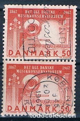 DINAMARCA 1967 Y 456 SELLO USADO SERIE BLOQUE DE DOS (Sellos - Extranjero - Europa - Dinamarca)