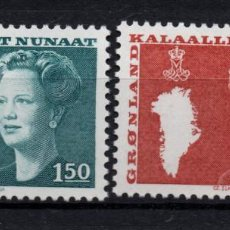 Sellos: GROENLANDIA 122/23** - AÑO 1982 - REINA MARGARITA II. Lote 147492366