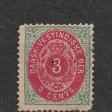 Sellos: DANISH WEST INDIES 1874-79 SC# 6 A USADO - 3/45. Lote 147920326