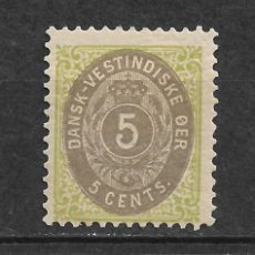 Sellos: DANISH WEST INDIES 1896-1901 SC# 19 * MH - 3/45. Lote 147920730