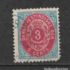Sellos: DANISH WEST INDIES 1896-1901 SC# 17 USADO - 3/45. Lote 147921066