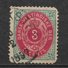 Sellos: DANISH WEST INDIES 1874-79 SC# 6 USADO - 3/45. Lote 147921378