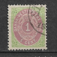 Sellos: DANISH WEST INDIES 1874-79 SC# 5 USED - 3/45. Lote 147921598