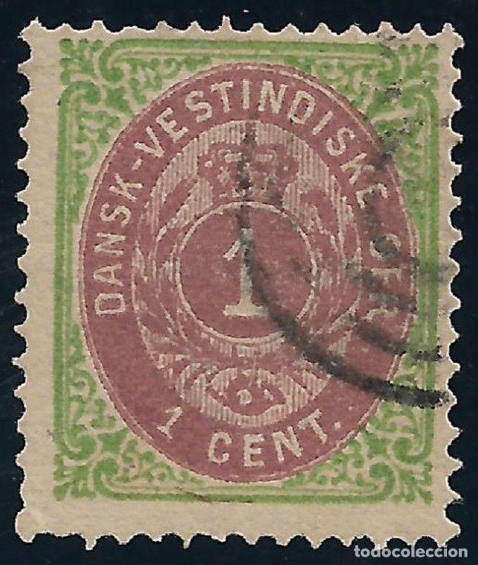 DANISH WEST INDIES 1874-79 SC# 5 USADO - 3/45 (Sellos - Extranjero - Europa - Dinamarca)