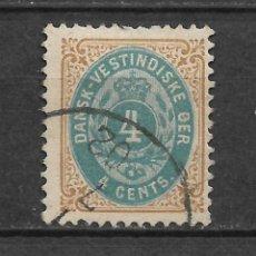 Sellos: DANISH WEST INDIES 1874-79 SC# 7 USADO - 3/45. Lote 147921726