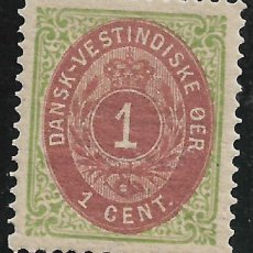 Sellos: DANISH WEST INDIES 1874-79 SC# 5 C * MH - 3/45. Lote 147921846