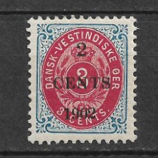 Sellos: DANISH WEST INDIES 1902 SC# 24 * MH - 3/45. Lote 147921990