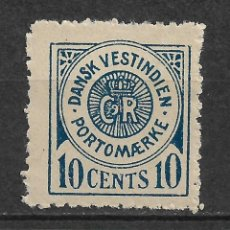 Sellos: DANISH WEST INDIES 1902 SC# J4 * MH - 3/45. Lote 147922342