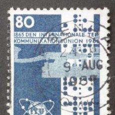 Sellos: 1965 DINAMARCA I CENTENARIO UNIÓN INTERNACIONAL TELECOMUNICACIONES. Lote 148100862