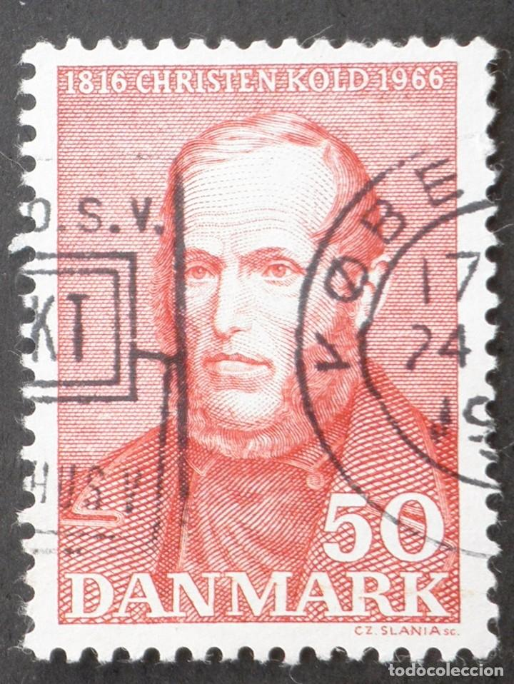 1966 DINAMARCA I CENTENARIO NACIMIENTO CHRISTEN MIKKLESEN KOLD (Sellos - Extranjero - Europa - Dinamarca)