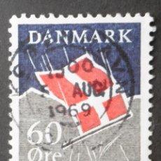 Sellos: 1969 DINAMARCA VII CENTENARIO BANDERA NACIONAL. Lote 148241486