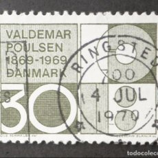 Sellos: 1969 DINAMARCA I CENTENARIO NACIMIENTO VALDEMAR POULSEN. Lote 148242006