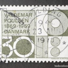 Sellos: 1969 DINAMARCA I CENTENARIO NACIMIENTO VALDEMAR POULSEN. Lote 148242114