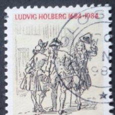 Sellos: 1984 DINAMARCA III CENTENARIO NACIMIENTO LUDVIG HOLBERG. Lote 150000910