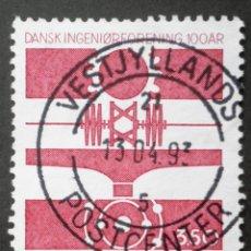 Sellos: 1992 DINAMARCA I CENTENARIO ASOCIACIÓN NACIONAL INGENIEROS. Lote 150300390