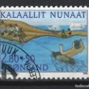 Sellos: GROENLANDIA 1986 - DEPORTE SAQQAQ - SELLO USADO. Lote 159400554