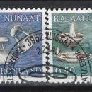 Sellos: GROENLANDIA 1986 - ARTES DECORATIVAS, S.COMPLETA - SELLOS USADOS. Lote 159400734