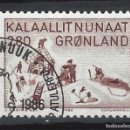 Sellos: GROENLANDIA 1986 - ARTE, PINTURA ANINARQ - SELLO USADO. Lote 159400886