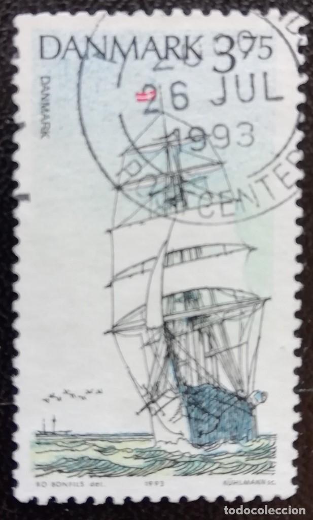 1993. BARCOS. DINAMARCA. 1059. VELERO 'DANMARK'. SERIE CORTA. USADO. (Sellos - Extranjero - Europa - Dinamarca)